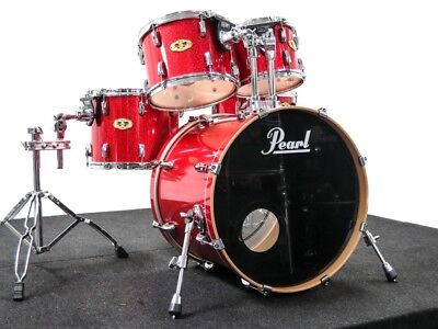 Pearl Vision Maple Drum Kit Red Sparkle