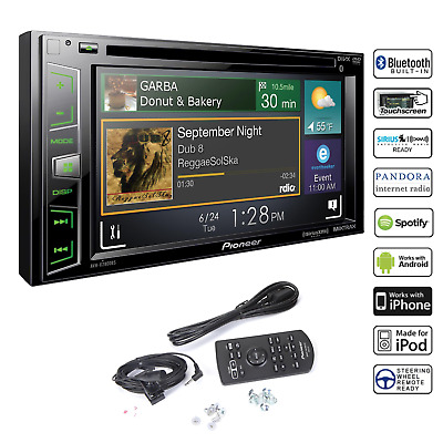 Pioneer Double Din Car Stereo DVD With Bluetooth Pandora Touchscreen Navigation