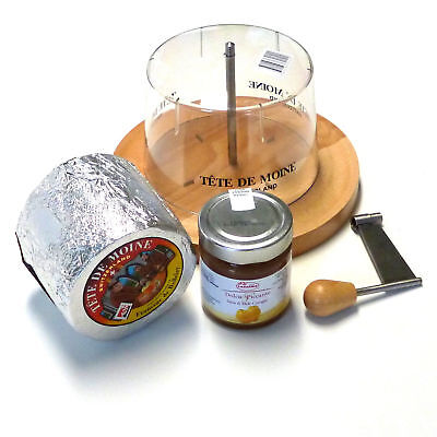 Set Cheese Slicer Tete de Moine Aop Whole Loaf with Quince Mustard Hood Girolle