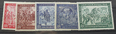 briefmarken, Deutsche Post, Leipziger Messe 1948