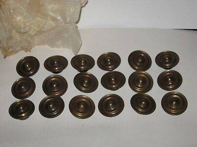 Vintage Brass Drawer Cabinet Pull Knobs - 18