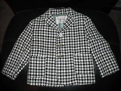 Vintage Toddler's A Hi-Line Product Black/grey/white Checked Blazer Jacket Size