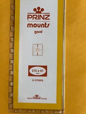 Prinz Stamp Mounts 61/215 - ***We Are A Veteran Supportive Business***