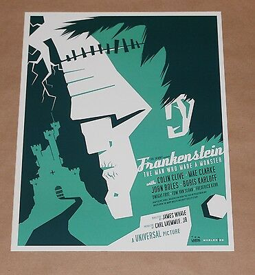 Frankenstein Tom Whalen Universal Monsters Giclee Print Poster