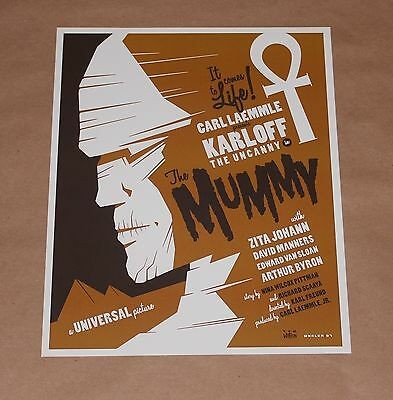 The Mummy Tom Whalen Universal Monsters Giclee Print Poster