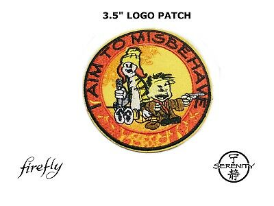 I Aim To Misbehave Jayne & Mal / Calvin & Hobbes Firefly/serenity Patch Iron-On