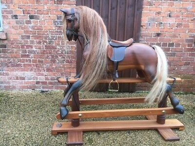 Stunning Extra Large Horsecraft Rocking Horse With Detachable Tack - Adult Size