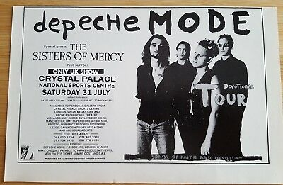 Half page depeche mode magazine print ad for devotional tour. Approx 15cmx23cm