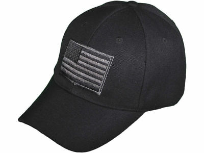SWAT TEAM POLICE  BLACK OPS  Special Forces EMBROIDERED American Flag HAT CAP