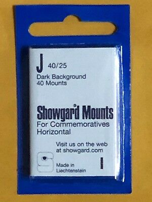 Showgard Stamp Mounts J 40/25 - ***We Are A Veteran Supportive Business***