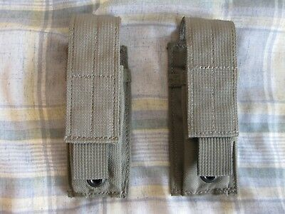 Eagle Industries MOLLE Single Pistol Magazine Pouch Lot of 2 Ranger Green RLCS