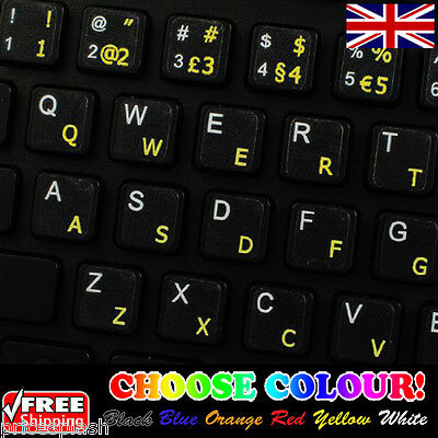 Portuguese Traditional Transparent Keyboard Stickers for Laptop PC - 6 Colours