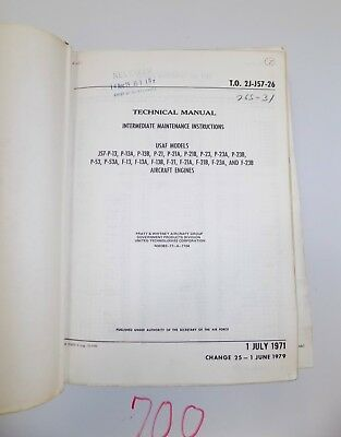 Pratt & Whitney Engine Technical Manual & Maintenance Instructions J57-P-13