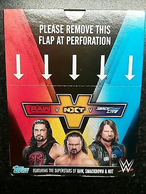 Topps RAW VS SMACKDOWN VS NXT STICKERS! WWE 2018 BUY 2 GET 10 FREE!! #201-274