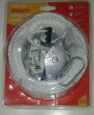 NEW - AMTECH LIFTING CABLE CARGO PULLEY SET 20m PULLING CORD