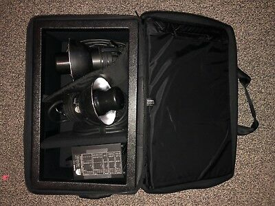 Profoto Acute2R 1200 pack with 2 Acute D4 heads and Tenba kit EXC+ Look!!