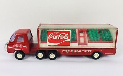 VINTAGE Buddy L Coca Cola Truck and Delivery Trailer with 5 coke cases and dolly