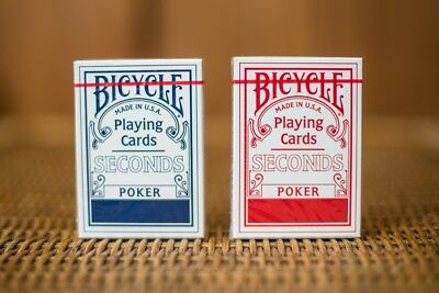 Bicycle Seconds Playing Cards 2 Deck Factory Sealed Red & Blue Set