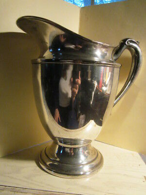 Vintage KEYSTONEWARE Silverplated Silver plate PITCHER 8.75""