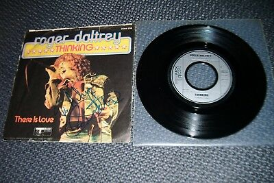 "ROGER DALTREY (The WHO): Thinking - 7"" Single 1973, Coverhülle SIGNIERT!"