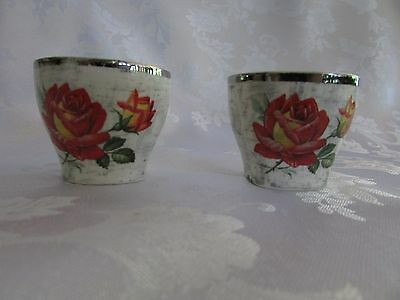 Midwinter Stylecraft Staffordshire Rose Marie Egg Cups x 2 1960's RETRO England
