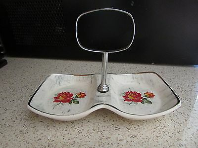 Midwinter Staffordshire RETRO 1960 Divided dish with handle Made in England 17cm