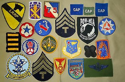 22 US Military Patches - WWII, Korea and Vietnam to Present,Army, Civil Air Plus