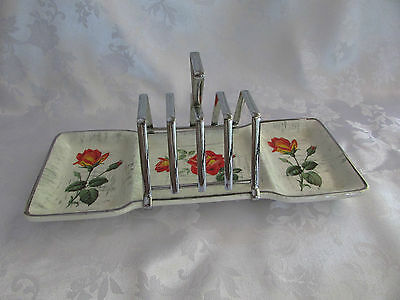 Midwinter Staffordshire 4 slice toast rack with condiment base 1960 Retro