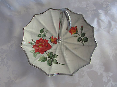 Midwinter  Retro 1960 Umbrella serving dish Vintage Stylecraft Rose Marie 19.5cm