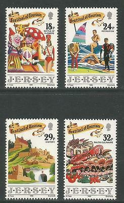 Jersey 1990 Festival of Tourism--Attractive Topical (536-39) MNH