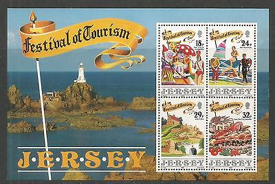 Jersey 1990 Festival of Tourism ss--Attractive Topical (539a) MNH