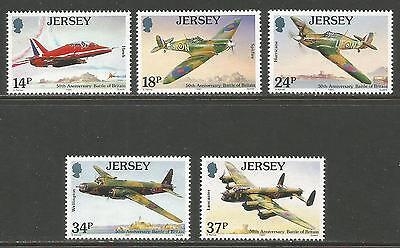 Jersey 1990 Battle of Britain 50th--Attractive Airplane Topical (544-48) MNH