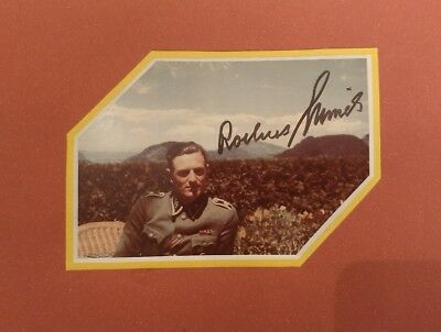 Rochus Misch signed autograph picture Hitler's Bodyguard WW2 WWII Free Shipping