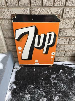 "7up Porcelain Enamel Sign - Single Sided 24""X16"""