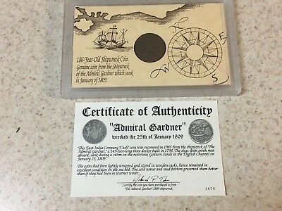 1808 Admiral Gardner Shipwreck Recovered Coin India-British