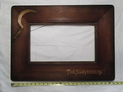 Antique Wood Gilt Picture Frame Braided Brass Victorian Art Nouveau Harvesters