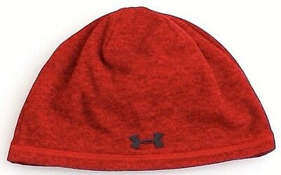 bf09b7c3893 UNDER ARMOUR COLDGEAR Infrared Red Heather Beanie Men s One Size NWT ...