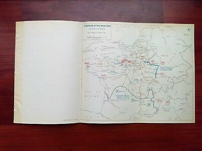 1940 WWII Map Battle of France The Pursuit June 13 Dunkirk German Advances