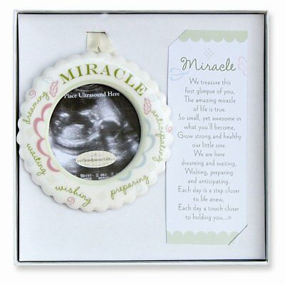 Miracle Keepsake Ultrasound Sonogram Baby Photo Ornament with Poetry