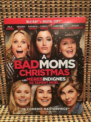 A Bad Moms Christmas (Blu-ray, 2018)+Embossed Slipcover.Mila Kunis/Kristin Bell