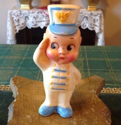 Vintage 1962 DREAMLAND CREATIONS INC. Military Soldier Bare Bottom Squeak Toy