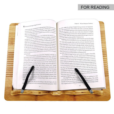 Bamboo Book Stand Portable and Foldable Reading Stands for Textbook Cookbook