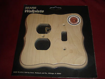 Wood Unfinished Single Light Switch Plate Outet Cover Combo
