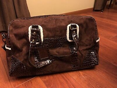 941c42b0e96a Bath And Body Works Brown Luggage duffle carry On Travel Bag Or Diaper Bag