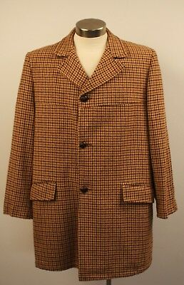 "Large   Original Vintage Mens 3/4 Long Tweed Coat."" Sackville"""