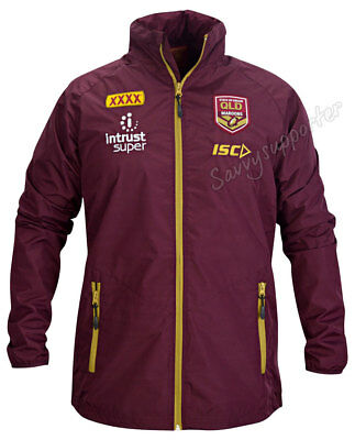 Queensland Maroons State of Origin 2018 NRL Wet Weather Jacket Sizes S-5XL