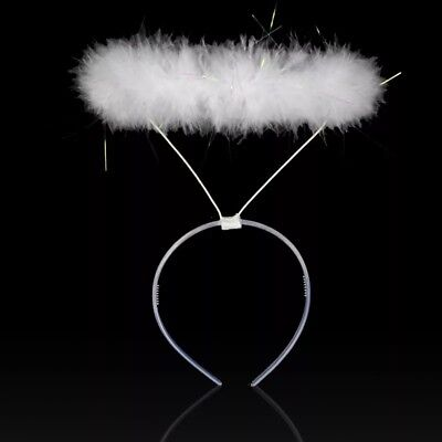 Feather Halo Headband Angel Fairy Fancy Dress Party Costume For kids or adults