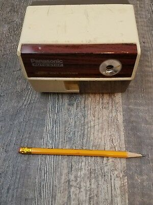 Vintage Panasonic Auto-Stop Electric Pencil Sharpener KP-110 Made In JAPAN