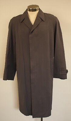 "Medium Original Vintage Mens Long Grey Trench Coat. ""wetherdair"" Made In England"