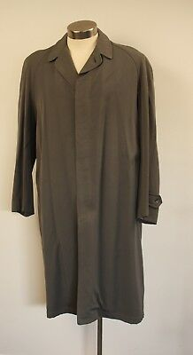 Medium 40 R Original Vintage Mens Long Grey Trench Coat. Hohn Halifax""